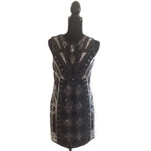 Endless Rose Black/Silver Sequence Dress